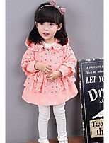 Girl's Casual/Daily Print Suit & BlazerCotton Spring / Fall Green / Pink