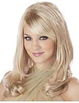 Мода длинные волнистые светлые цвета парик с челкой синтетический парик шапки для женщин