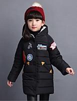 Piumino e giubbino di cotone Girl Casual Con stampe Poliestere Inverno Nero / Rosso / Bianco