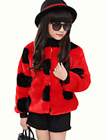 Girl's Casual/Daily Polka Dot Down & Cotton Padded,Polyester Winter Red / White / Yellow