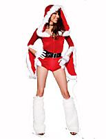 Costumes de père noël Fête / Célébration Déguisement Halloween Rouge / Blanc Couleur Pleine Robe / Ceinture / Jambières / Chapeau Noël