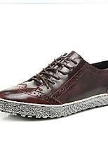 Черный / Синий / Бордовый-Мужской-Для офиса / На каждый день-КожаOthers-Туфли на шнуровке