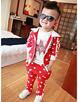 Boy's Casual/Daily Galaxy Clothing SetCotton Fall Red