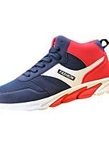 Черный Синий Красный-Мужской-Повседневный-Ткань-На плоской подошве-Удобная обувь-Кеды