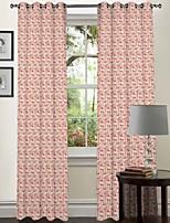 Um Painel Tratamento janela Designer , Curva Sala de Estar Poliéster Material Cortinas cortinas Decoração para casa For Janela