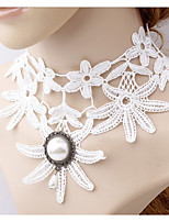 Ожерелье Искусственный жемчуг Ожерелья-бархатки Воротничок Pearl Пряди Жемчужные ожерелья Татуировка Choker БижутерияСвадьба Для