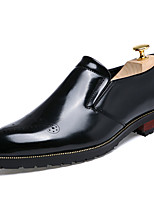Men's Loafers & Slip-Ons Spring / Fall Comfort Leather Casual Flat Heel Animal Print Black / Brown / Gold / Burgundy Walking