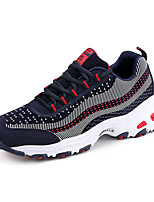 Women's Sneakers Spring / Fall Comfort PU Athletic Flat Heel Lace-up Blue / Black and Red    Royal Blue Running