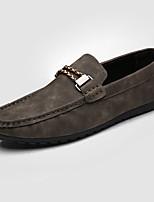 Men's Loafers & Slip-Ons Summer Comfort PU Casual Flat Heel Black Gray Orange Khaki
