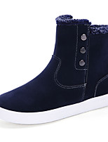 Men's Boots Spring Fall Winter Comfort Suede Outdoor Casual Athletic Flat Heel Button Black Blue Tan Walking