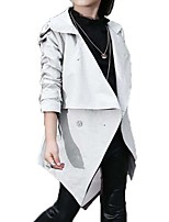 Girl's Casual/Daily Solid Trench CoatPolyester Winter Gray