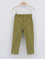 Girl's Casual/Daily Solid PantsCotton Fall Green