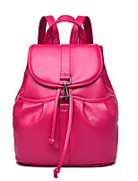 Casual Backpack Women Polyester White Beige Pink Red Black