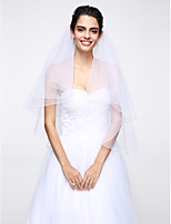 Wedding Veil Two-tier Elbow Veils Net White