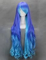 аниме Vocaloid серия анти INFIN Holic Luka смешать синий парик Cospaly Harajuku градиента длинные волнистые Хеллоуин костюм парик