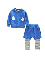 Boy's Casual/Daily Print Hoodie & Sweatshirt / Pants / Clothing SetCotton Spring / Fall Blue / Gray