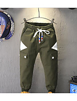 Boy's Casual/Daily Solid PantsCotton Spring / Fall Black / Brown / Green