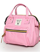 Women Canvas Casual Backpack Pink / Red