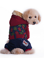 Dog Hoodie Red / Green Dog Clothes Winter Solid Sports / Fashion / Casual/Daily /