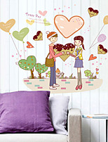 Romantik / Mode / Personen Wand-Sticker Flugzeug-Wand Sticker Dekorative Wand Sticker,PVC Stoff Abziehbar Haus Dekoration Wandtattoo