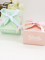 12 Piece/Set Favor Holder-Cubic Card Paper Favor Boxes Non-personalised