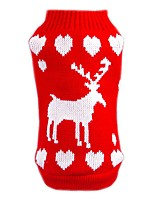 Red Lovely Christmas Snowfake Pattern Warm Sweater Dogs Clothes for Puppy(Assorted Sizes)