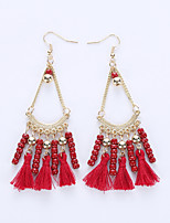 The European And American Fashion Small Pure And Fresh And Tassels Eardrop National Wind Restoring Ancient Ways Earrings