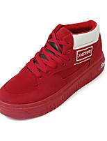 גברים-נעלי ספורט-בד-נוחות-שחור אדום אפור-יומיומי-עקב שטוח