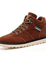 Men's Sneakers Fall / Winter Comfort PU Outdoor / Casual Flat Heel Lace-up Black / Brown / Gray Walking