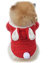 Katzen / Hunde Kostüme / Kapuzenshirts Rot / Purpur / Rosa Hundekleidung Winter / Frühling/Herbst einfarbig Niedlich / Cosplay