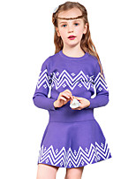 Girl's Casual/Daily Print Dress / Clothing SetOthers Spring / Fall Purple / Red