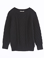 Unisex Casual/Daily Solid Sweater & Cardigan,Cotton Fall Long Sleeve Regular