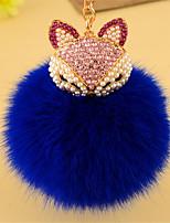автомобиль ключ кольцо милый творческий плюшевые лисицы алмазный кулон