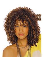 Afro Kinky фигурные парик для черных женщин синтетические парики