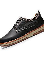 Men's Flats Spring / Summer / Fall / Winter Comfort PU Casual Flat Heel Lace-up Black / Blue / Brown / Yellow Others
