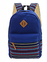 Unisex Canvas Casual School Bag Purple / Blue / Black / Khaki / Fuchsia