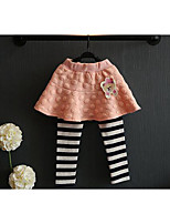 Girl's Casual/Daily Striped PantsCotton Spring / Fall Black / Pink / Gray