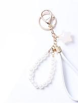 Creative Star Jelly Keychain Car Key Pearl Pendant
