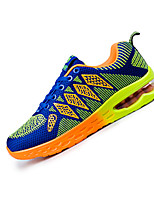 Women's Sneakers Spring Fall Comfort Tulle Casual Athletic Flat Heel Lace-up Blue Green Orange Walking