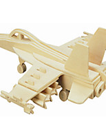 F - aircraft Wooden Simulation/Stereo DIY Assembly Model Educational Toys