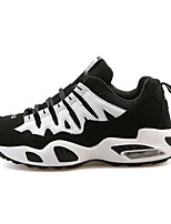 Women's Athletic Shoes Spring / Fall Comfort Tulle Athletic Flat Heel Lace-up White / Black and Red /   Sneaker