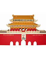 TianAnMen Puzzles Wooden Puzzles Building Blocks DIY Toys Chinese Architecture 1 Wood Ivory Puzzle Toy