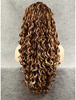 imstyle 26''high качество смешивания коричневый длинные вьющиеся синтетические парики фронта шнурка для партии
