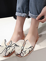 Women's Sandals Summer Comfort Rubber Casual Flat Heel Flower Black Blue Red White Others