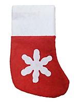 navidad decoraciones no tejidas medias de Navidad el mini soporte para cubiertos pequeños calcetines 12 pedazos / porción
