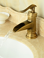 Bathroom Sink Faucet in Vintage Style Antique Brass Finish Tall Bathroom Sink Faucet