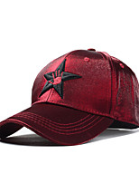 Women Men Casual Five-pointed Star Embroidery Fluorescent Color Dome Cotton Baseball Outdoor Hip-Hop Sun Hat