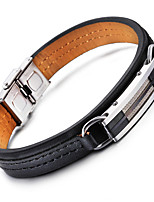 Kalen New Cheap Leather Bracelets 316L Stainless Steel Shiny Charm Bracelets Men's Fashion Accessories Cool Gifts