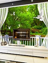 Décoration artistique / 3D Fond d'écran pour la maison Contemporain Revêtement , Autre Matériel adhésif requis Mural , Chambre