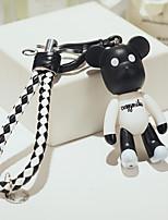 Cute Cartoon Bear Doll Keychain Creative Car Pendant